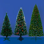 FIBRE OPTIC LED COLOUR CHANGING CHRISTMAS TREES - XMAS / GREEN ARTIFICIAL TREE