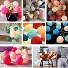 20LED Cotton Ball Fairy String Light Holiday Wedding Party Patio Christmas Decor