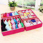 New 4pcs Underwear Closet Container Divider Bra Socks Ties Storage Organizer Box