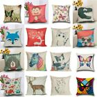 Linen Animal Sofa Waist Throw Pillow Case Couch Cushion Cover Home Decor Office