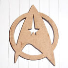 Vintage Retro Super Hero Star Trek Logo 3mm MDF cutout DIY creative crafts