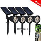 4Pack Solar Lights Waterproof Outdoor Landscape Lighting Spot light Auto On/Off