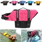 XS/S/M/L Pet Dog Saver Life Jacket Vest Preserver Puppy Large Swimming Safety US
