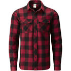 Rab Escape Boundary Mens Shirt Long Sleeve - Autumn Red Black All Sizes