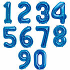 TAS Numbers Foil Balloon For Birthday Party Decorations Blue Numbers 0 to 9