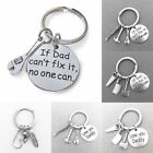 Family Wrench Hammer Tools Keyring Dad Charms Father Key Chain Jewelry Gift