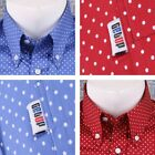 Get Up SLIM FIT Button Down Pocket Tag L/S Micro Polka Dot Shirt (2 Colours)