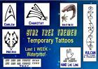 STAR TREK  Voyager trekkie themed  temp TATTOOS X4  waterproof  LAST1 WEEK+ on eBay