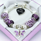 ENGRAVED Gifts For Girls Purple Bracelet Personalised Womens Jewellery Gifts Box