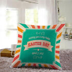 Easter Square Cotton Pillow Case Sofa Bed Waist Throw Cushion Cover Home Decor