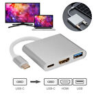 3in1 USB 3.1 Type-C to USB 3.1 HUB HDMI OTG Adapter Cable + USB-C Charging Port