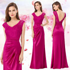 Ever-Pretty Evening Prom Formal Long Dress Bridesmaid Hot Pink Dresses 08986