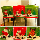 Sale Christmas Santa Snowman Dining Chair Back Cover Party Xmas Table Decoration
