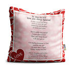 Aunt You are Very Special Red Heart Collection Poem Throw Pillow