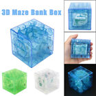 3D Cube Puzzle Money Maze Bank Saving Coin Collection Case Box Fun Brain Game UK
