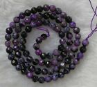 """Purple Black Agate Faceted Round Loose Beads 4mm 6mm 8mm 10mm 12mm 14mm 14"""""""