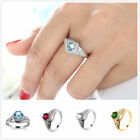 Classic Simple CZ Diamonique Real Gold Plated Wedding Promise Finger Ring Sz6-10