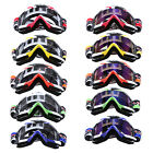 Motorcycle MX Bike Off Road Ski Snow Goggles Glasses Eyewear Clear/Colorful Lens
