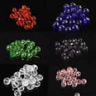 20 Pcs 8mm Fashion Round Cross Section Glass Crystal Pearl Loose Spacer Beads