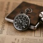 Kronen&Söhne Mens Half Hunter Alloy Dial Dispaly Roma Numbers Pocket Watch