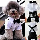 Pet Costumes Clothing Dog Jumpsuit Fun Groom Tuxedo Strap Suit Bow Tie Strapped