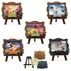 Disney Miniature Dollhouse Princess Dumbo Tinkerbell Mural Picture Easel