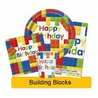 BUILDING BLOCKS Birthday Party Range (Lego) Tableware & Decorations {UNIQUE}(1C)