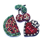 1PC 3D Fruit Applique Glass Crystal Rhinestone Patches DIY Craft Sewing