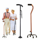 Quad Cane Small Base Bariatric 500lbs Walking Aid Medical Mobility Adjustable US