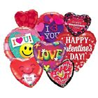 "VALENTINES DAY Foil BALLOONS 18""/46cm - Room Decorations/Hearts/Gift"