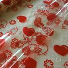 Cellophane Gift Wrap *Tweet Hearts* 2 / 5 / 10 / 20 metres Valentine's Day