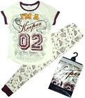 Womens Official Harry Potter Quidditch Glitter Keeper Pyjamas Size 12-14