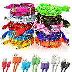3M/10FT Hemp Rope Micro USB Charger Sync Data Cable Cord for Cell Phone Tablet