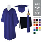 "Standard Matte Graduation Cap and Gown with Matching 2018 Tassel - Size  5'0""-5'"