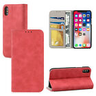 New for Apple iPhone X Retro Flip Wallet PU Leather Protective Case Cover Stand