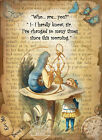ALICE IN WONDERLAND:HOOKAH THE CATERPILLAR :  METAL SIGN: 3 SIZES TO CHOOSE FROM