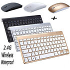 wireless keyboard and mice - Mini Wireless Keyboard And Mouse Set Waterproof 2.4G For Mac Apple  PC Computer