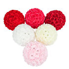 Romantic Silk Rose Flower Ball Pomander Kissing Ball Wedding Party Decor 6 Color