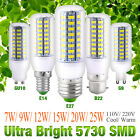 220V/240V Ultra Bright 5730 SMD LED Corn Lamp Light Bulb White 7W 9W 12W 15W 20W