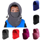 1PC Kids Boys Girls Warm Fleece Balaclava Motorcycle Winter Ski Face Mask Hat