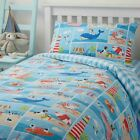 Patch Seaside Kids Duvet Cover Modern Cartoon Dog Childrens Bedding Single Size