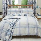 'Kew' Check Duvet Covers Modern Reversible Print Cotton Blend Bedding Set Lilac
