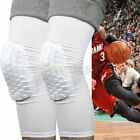 2X Honeycomb Knee Pad Crashproof Basketball Leg Long Sleeve Protector Gear White