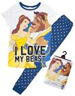 Womens Disney Belle Beauty & The Beast Love My Beast Pyjamas Plus Sizes 8 to 22