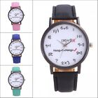Fashion Women Roman Geneva Watch Lady Leather Band Analog Quartz Wrist Watch