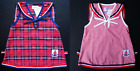2 BABY GIRLS DRESSES 1 Red Check & 1 Tartan Dress 100% Cotton Casual Clothing
