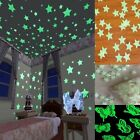Yosemite Home Decor 40/100pcs Plastic 3D Stars Glow In The Dark Luminous Fluorescent Wall Stickers