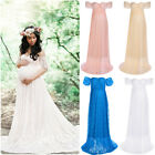 Pregnant Women Lace Maternity Dress Bodycon Long Maxi Gown For Photography Props