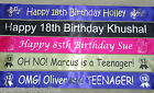 CHILDREN'S, KID'S, ADULT BIRTHDAY ANY AGE or EVENT,  PERSONALISED BANNER