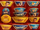 Kelloggs Rice Krispies Coco Pops Frosties Breakfast Cereal Bowl Plastic New
